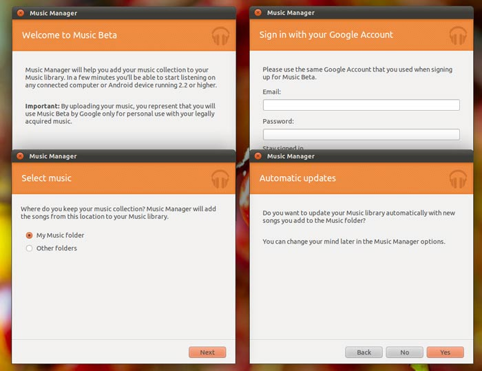 Google Music Manager for Linux