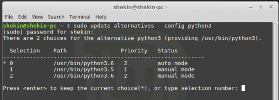 Python 3.6  - install latest version into Linux Mint
